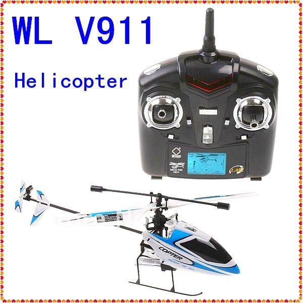 free shipping 2011 WL V911 4CH 2.4GHz Mini Radio Single Propeller / single blade RC Helicopter Gyro WL V911 RTF Wholesale(China (Mainland))