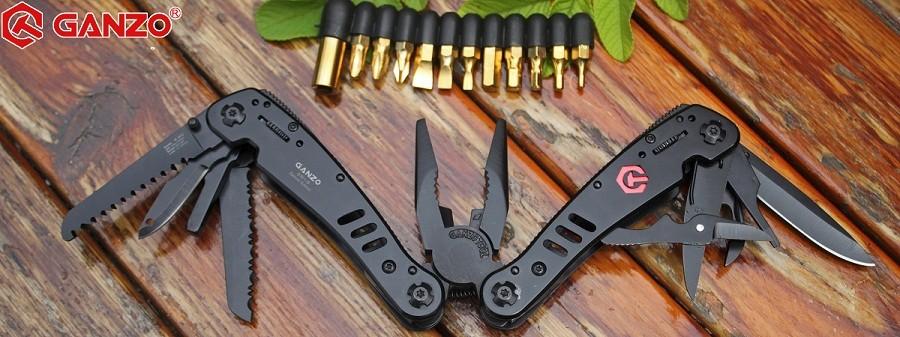 Buy G301b Ganzo tools knife pliers outdoor survival gear camping knives huntsman pocket edc folding plier knife tactical fishing kit cheap