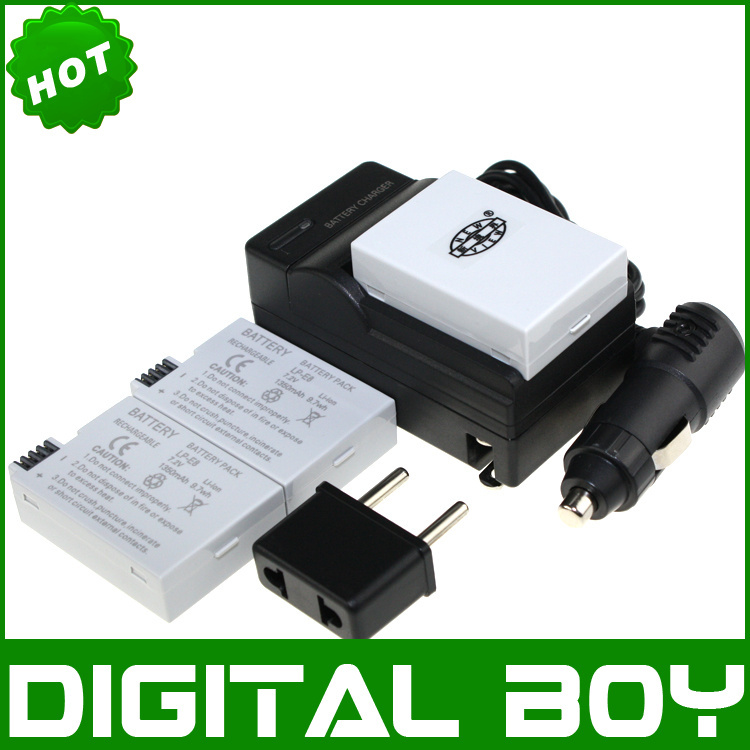 Гаджет  3 PCS LP-E8 LPE8 Camera Batteries & Charger & Car charger & Plug adapter For CANON EOS 550D 600D Rebel T2i T3i Kiss X4 X5 None Электротехническое оборудование и материалы