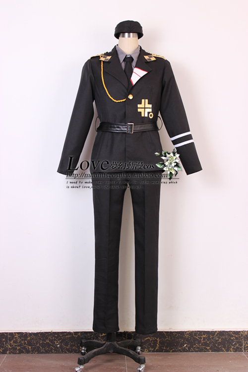 New Anime Axis Powers Hetalia Military Uniform APH Prussia Cosplay CostumeОдежда и ак�е��уары<br><br><br>Aliexpress