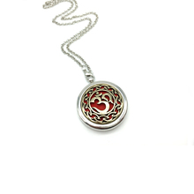 1pcs Stainless Steel Lockets Pendant With Pads OM Mentra Essential Oil Diffuser Locket Necklace Aromatherapy Jewelry