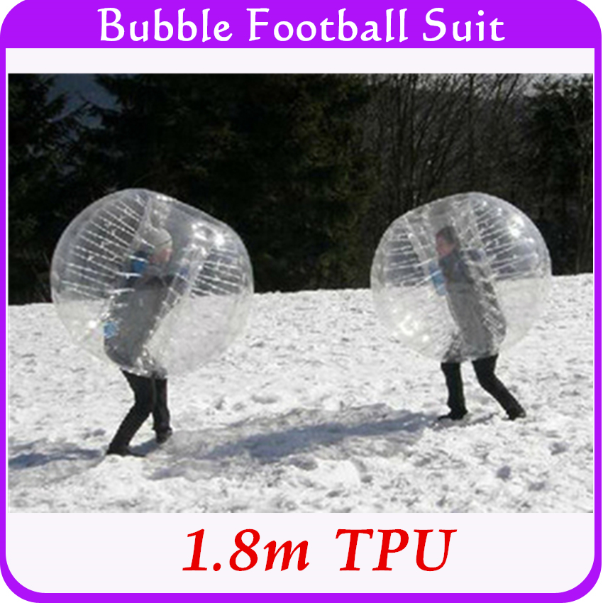 High Quality Sports Games For Teams 1.8m TPU For Tall People Adults Inflatable Bubble Bumper Ball Body Suit Wholesale Big Size(China (Mainland))