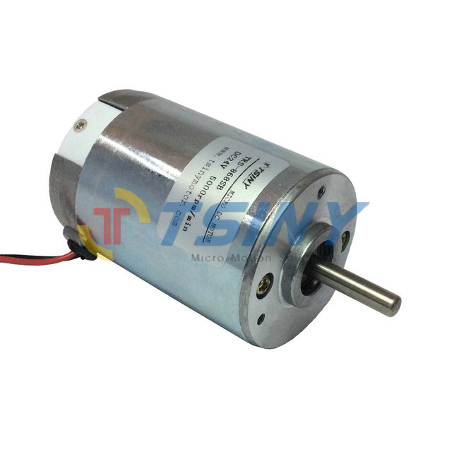 Small 24 volt dc electric motor 5000rpm micro brush pmdc motor with ball bearings long life in 24 volt motors