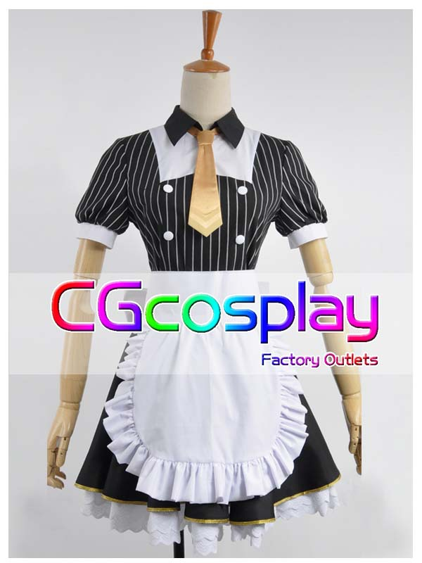 Free Shipping Cosplay Costume LoveLive! Hoshizora Rin Maid outfit New in Stock Retail / Wholesale Halloween Christmas PartyОдежда и ак�е��уары<br><br><br>Aliexpress