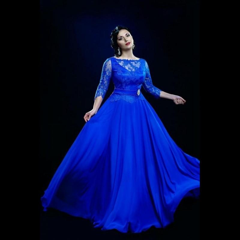 Plus Size Blue Chiffon Dress Dresses For Woman