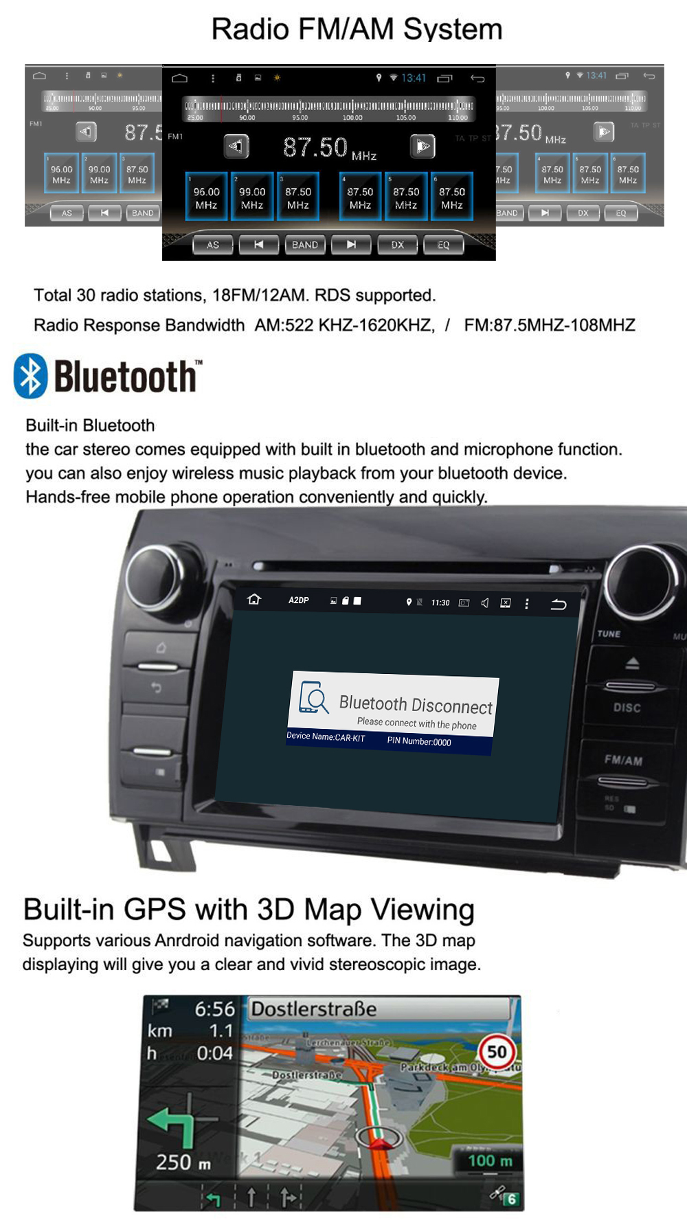 Quad Core 10.1″ Android 6.0 Car DVD Player for Toyota Corolla 2014 2015 RHD auto gps radio wifi stereo head units tape recorder
