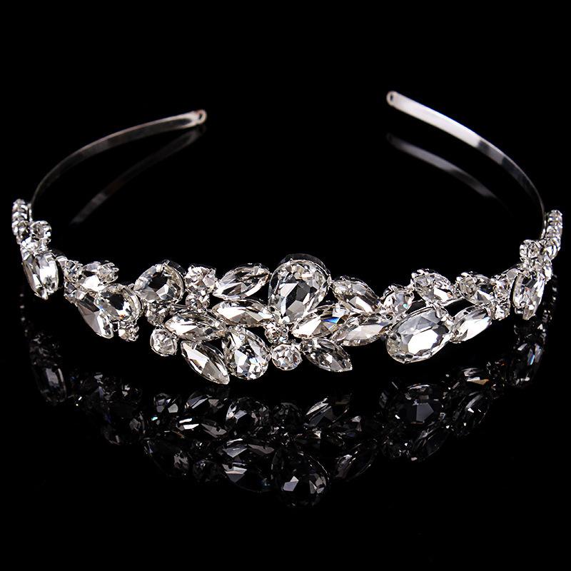 2015 New Women Fashion Crystal Hair Accesories Pretty Hairwear Bright Rhinestones Wedding Party Headdress Accesory(China (Mainland))