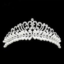 Buy Full Fake Pearl Women Headwear Accessories 2016 Trendy Party Headwear Flower Shape Women Hair Jewelry Wedding Tiara Headwear for $9.50 in AliExpress store