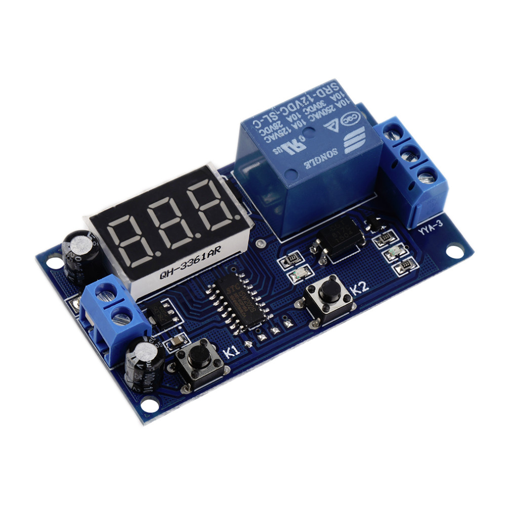 image for DC 12V Digital Display Trigger Cycle Time Delay Relay Module Board  Ho