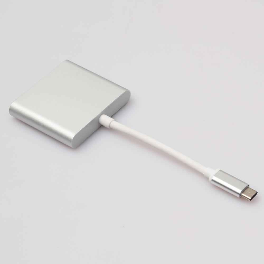 Factoy price 15cm Type-C 3.1 Male to USB 3.0/ HDMI/ Type C Female Charger Adapter for Macbook FW1S