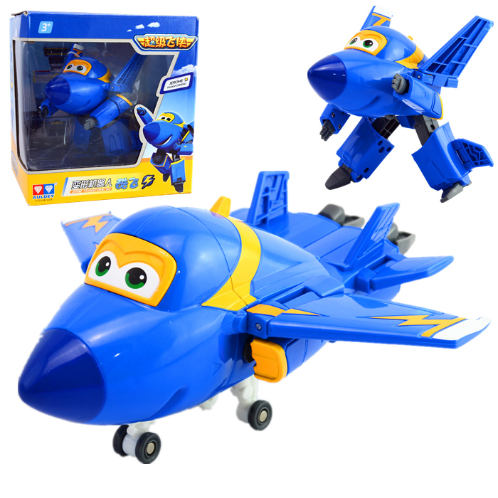 100% Brand New Super Wings ABS Planes Transformation Airplane Robots Brinquedos JETT Action Figure Toys Gifts For Kids(China (Mainland))