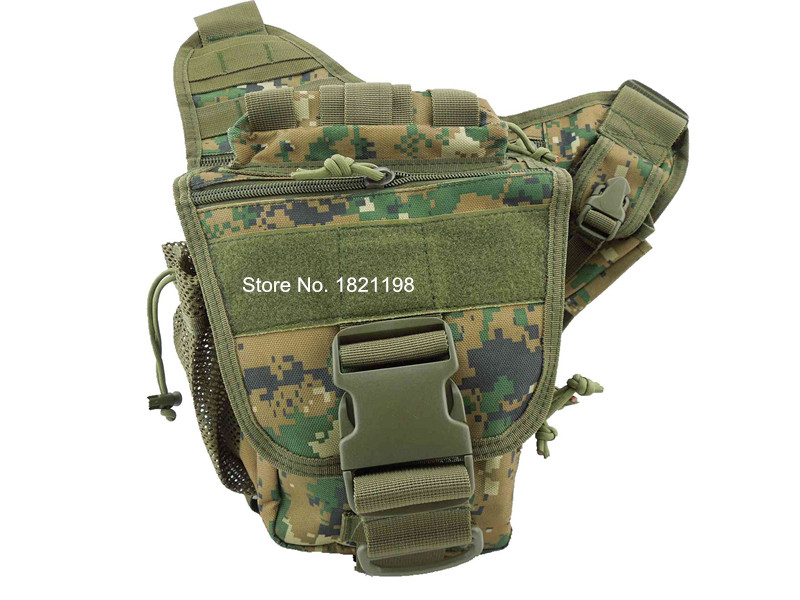 Free shipping New Style Molle Tactical Shoulder Strap Bag Pouch Travel Backpack Camera Military Backpack Woodland Digital color<br><br>Aliexpress