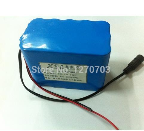 10000mAh New DC 12V Portable 9800mAh Li-po Super Rechargeable Battery Pack + 12 v Battery Charger+Free shipping(China (Mainland))