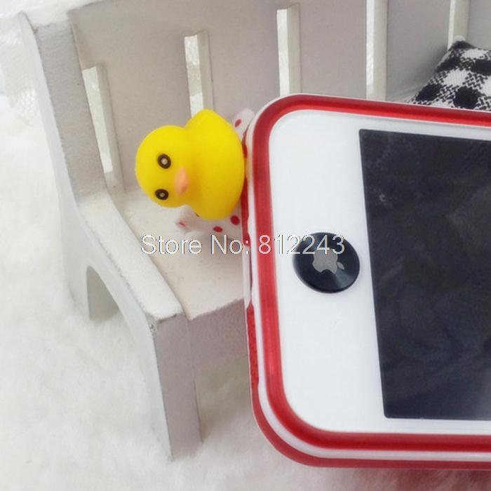 Yellow Duck Style Cute Dust Plug Phone Accessories 3.5mm Headphone Dust Plugs Earphone Jack Plug 21025