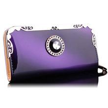 Long Women Purse Wallet Card Holder Phone Handbag Wallets PU Leather Gift 5 Colors(China (Mainland))