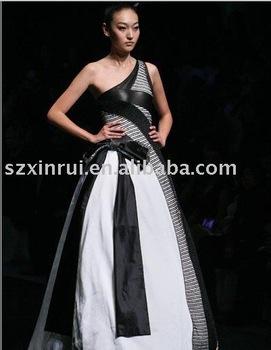 black taffeta wedding dress for chrismas  DS1763