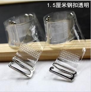 PJ 1.5cm metal bra straps Stainless steel Women's transparent silicone bra straps baldric adjustable Intimates Accessories(China (Mainland))