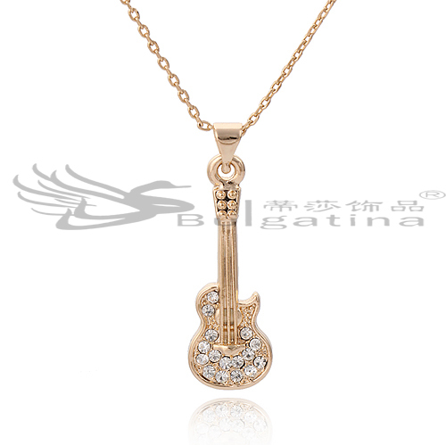 Free Shipping Classic Style Crystal Pave Gold-plated Stainless Steel Necklace Retail Or Wholesale(China (Mainland))