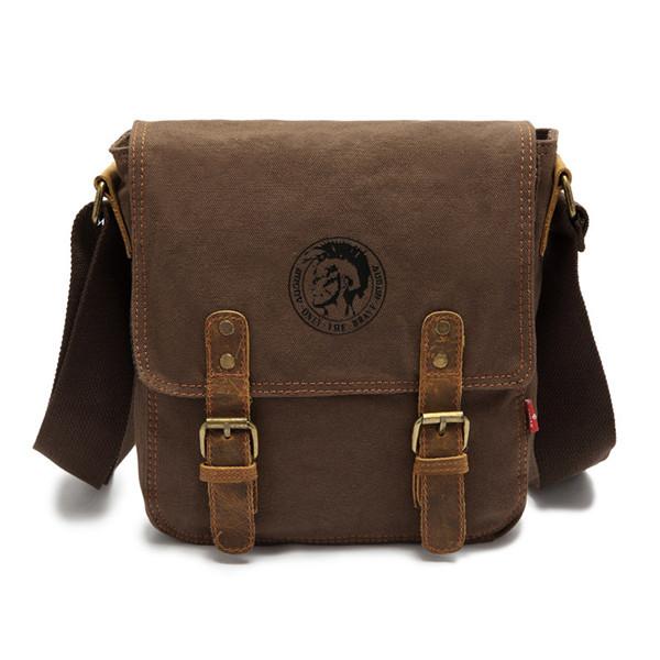 EcoCity canvas genuine leather men messenger bags,school desigual crossbody bag,men's shoulder bags,buckle travel bag MB0092(China (Mainland))