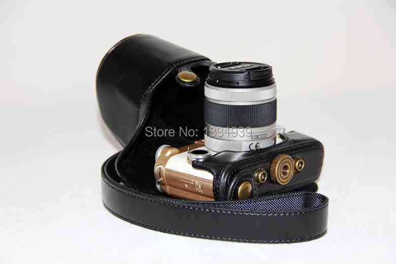 2015 Smooth PU Leather Camera Bag Case Camera Bags Cases For pentax QS1 with strap free
