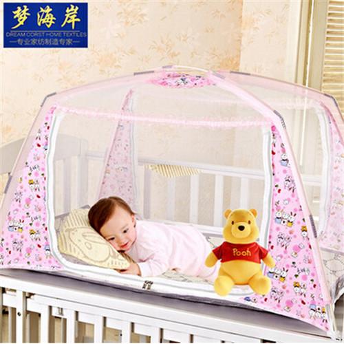 Складные кроватки Hot портативный чистая полиэстер мелкой сеткой складная кровать сетки мгновенных детская кровать складной дети туристические принадлежности сетей