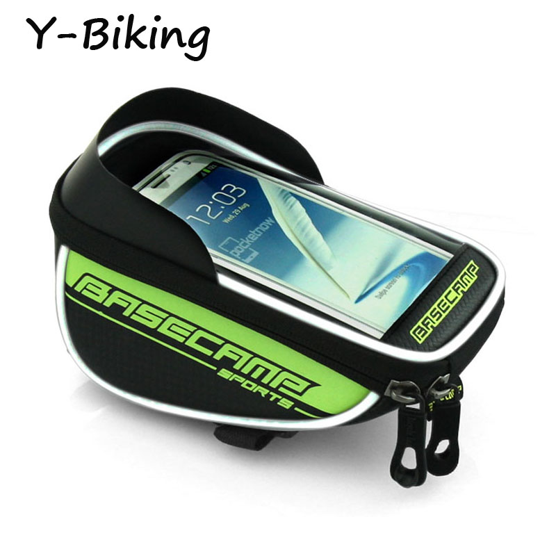 "Waterproof Bike Frame Front Top Tube Bag For Cellphone Below 5.8"" Bicycle Panniers Pouch Cycling Bags YB-BSK-02(China (Mainland))"