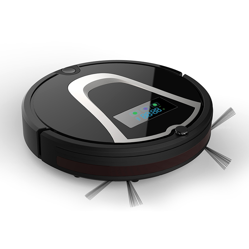 Eworld M884 Vacuum Cleaner Smart Sweeping Rechargeable Robot Vacuum Cleaner Remote Controlled Automatic Dust Home Cleaner Black(China (Mainland))