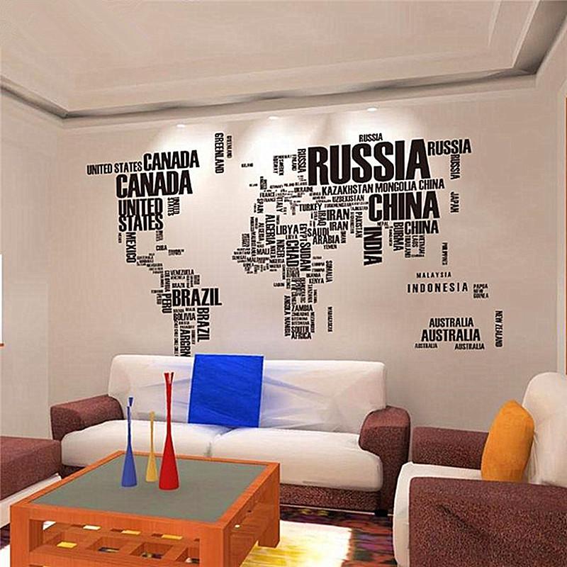 Achetez en gros type carte du monde en ligne des - Pegatinas de pared baratas ...