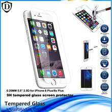 10pcs 0.2mm Full Cover Tempered Glass Screen Protector For iPhone 6 Plus/6s Plus 5.5 inch 9H Toughened Film with opp package