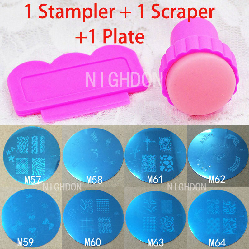 1 Nails Stamping Plate 1 Stamper 1 Scraper Nail Stamp Plate Set Flower Nail Art Templates Animal Nails Stencils Tool NST0004(China (Mainland))