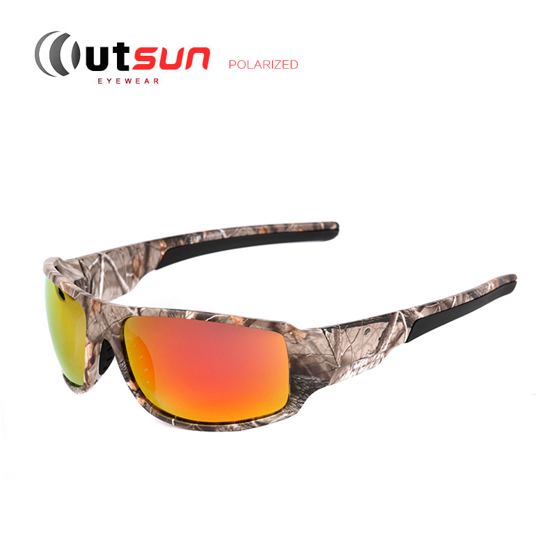 OUTSUN 2016 New Top Sport Driving Fishing Sun Glasses Camouflage Frame Polarized Sunglasses Men/Women Brand Designer De Sol - store