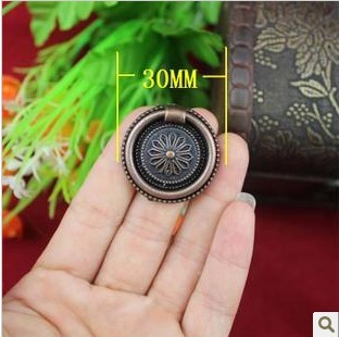 Seconds Kill Top Fasion Freeshipping 30mm Antique Red Bronze Drawer Cabinet Handle Decorative(China (Mainland))