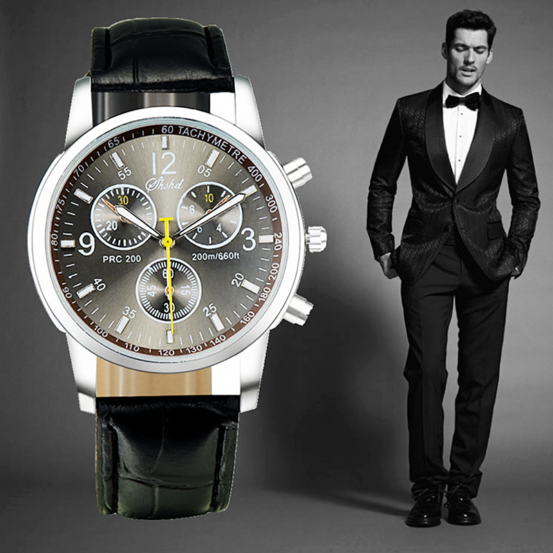 2015 New Fashion Quartz wrist watches Men Luxury Brand Leather Straps High Quality male time oem top designer chronograph clock(China (Mainland))
