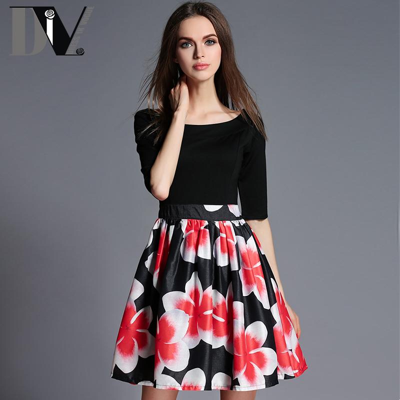 DIV Patchwork Organza Print Dresses Women O-Neck Half Sleeve Casual Vestidos Summer High Waist Draped Mini Dresses Plus Size(China (Mainland))