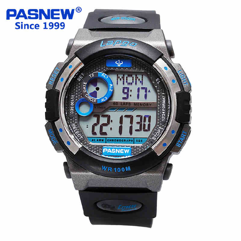 100 Depth Swim Multifunctional Electronic Watches Luminous Student Watches Men's Watches Waterproof Outdoor Running Sports Watch(China (Mainland))
