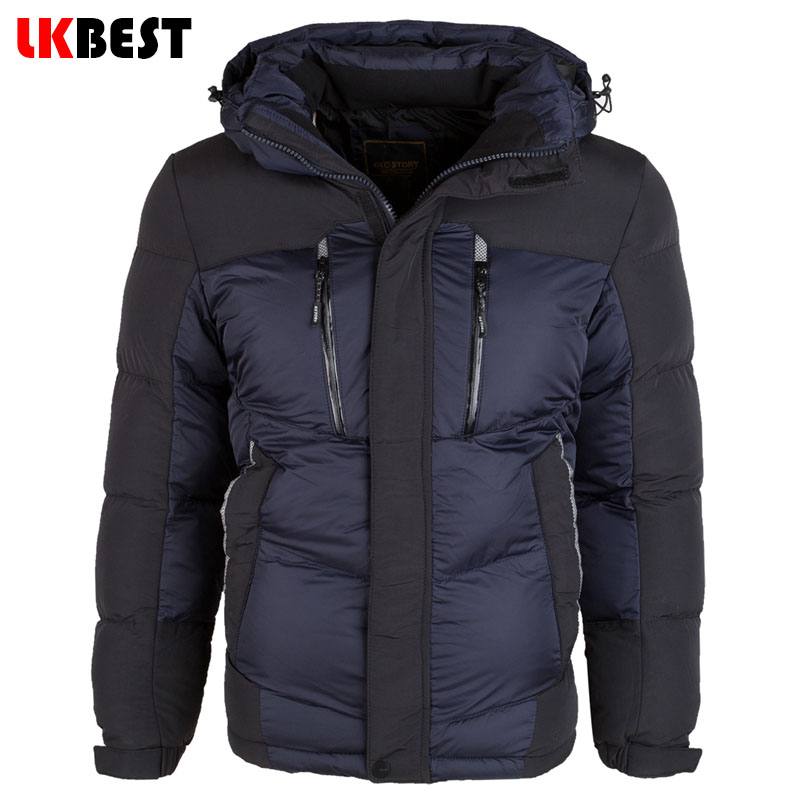 2015 New arrival thick winter jacket cotton brand men hooded jackets plus size winter parka Warm sports winter coat (9050)