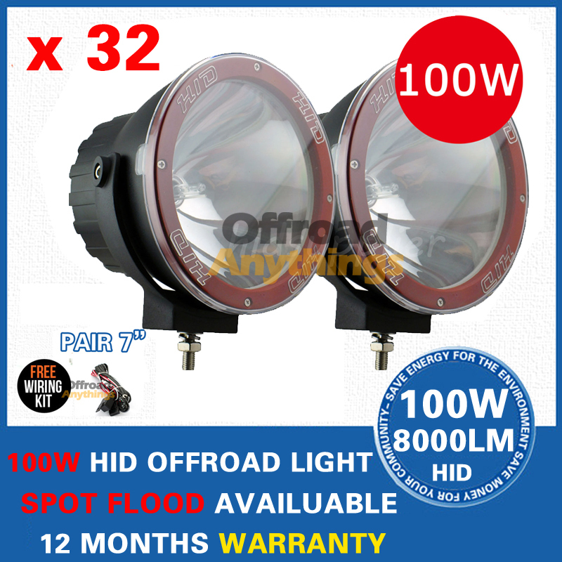 """7"""" Hid Offroad Lamp Truck/Boat Fog Lamp Hid Driving Light HID Off Road Light Hid Xenon Work Light(China (Mainland))"""