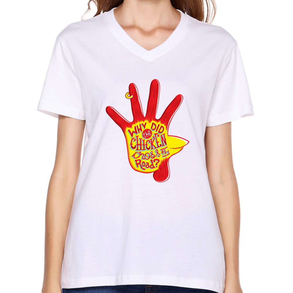 Drop Shipping Nerd Fashionable Women T Shirt Geek Chicken
