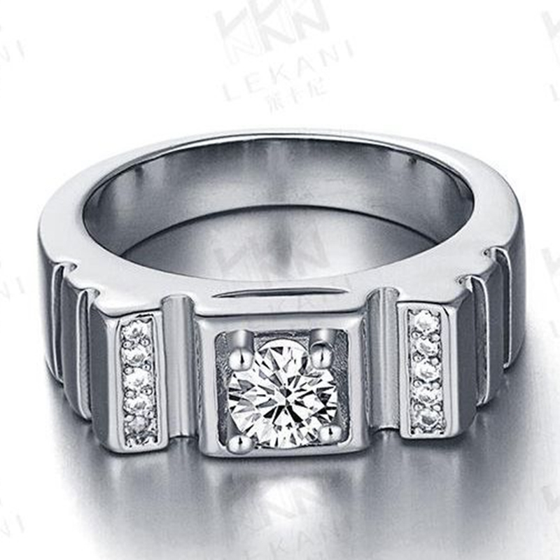 paved cubic zircon 18k white gold filled promise womens