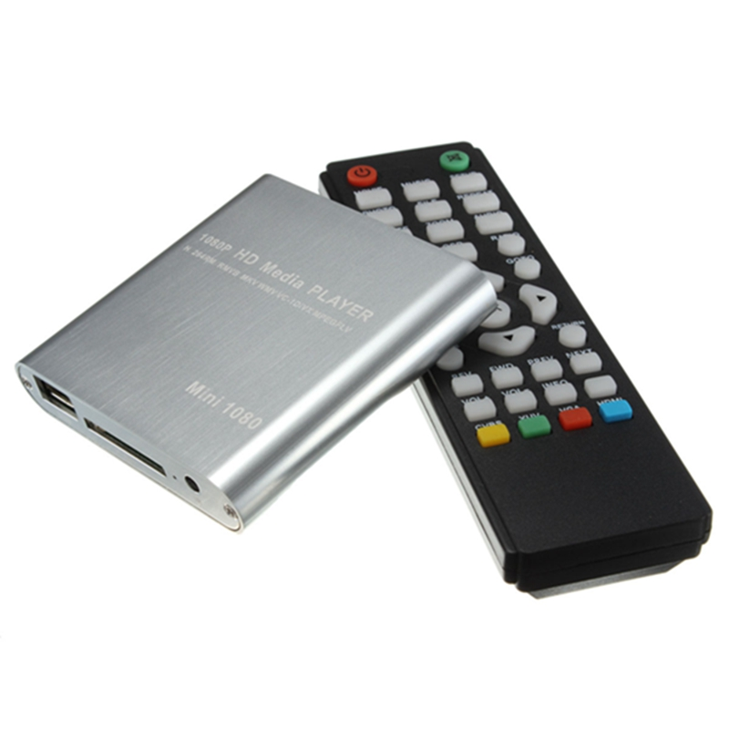 New Stylish Top Selling Full HD 1080P Mini HDD Multi Media Player POUR HDTV MKV H.264 RMVB HDMI With HOST USB SD Card Reader(China (Mainland))