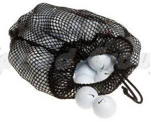 Nylon Mesh Net Bag Pouch Table Tennis Golf Ball Holder 14 Balls Black Portable Storage Golf Ball Bag(China (Mainland))