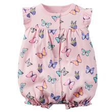 2016 Summer Carters Baby Girl Clothes Kid Jumpsuit Baby Boy Body Suit Clothing Short Sleeve Romper Vestidos Meninas Roupas Bebes(China (Mainland))