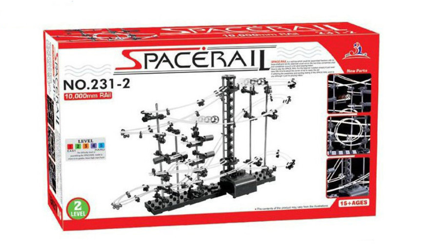 High Quality! New Space Rail Funny Model Building Kit RollerCoaster Toys SpaceRail Level 2, DIY Spacewarp Erector Set 10000mm(China (Mainland))