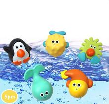 Детская Ванночка Игрушка Squirters Для Ванной Классический Океан Пингвин Кита Игрушки 6 М +(China (Mainland))