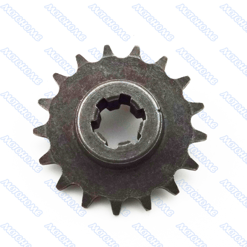 T8F 17T Clutch Gear Box Sprocket Front Pinion 17 tooth For 47cc 49cc 2 stroke Mini Dirt Bikes Crosser Minimoto Scooter Go Karts(China (Mainland))
