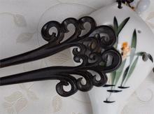 Ювелирные изделия волос мода Hairwear волосы торчат деревянный двойной зубец заколки заколки бобби симпатично гибкая японский прическа