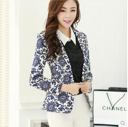 New 2016 coat jacket Outdoor jackets suit Casual Work Wear One Button Blazer feminino Tunic suits women blaser feminino blazers(China (Mainland))