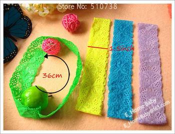 120pcs Baby headbands 1.5inch Lace Headbands Baby Girl Hair Band Elastic Headband Baby Hair Accessories Hair Holder