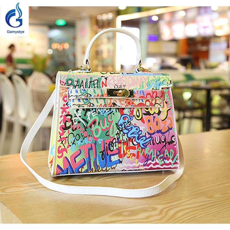 GAMYSTYE Graffiti leather handbags Womens luxury Bags new arricals refresh bags Hand Painted totes Europe and America fashion<br><br>Aliexpress
