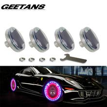 GEETANS 4pcs Led Flash Tyre Valves Lamp 13 Flash color Models Stunning Waterproof Car Tuning Gas Nozzle Cap Lamp Rim Light CE(China (Mainland))